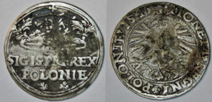 Fals grosza 1545 Zygmunta Starego