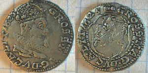 Fals bardzo rzadkiego grosza wileńskiego 1625