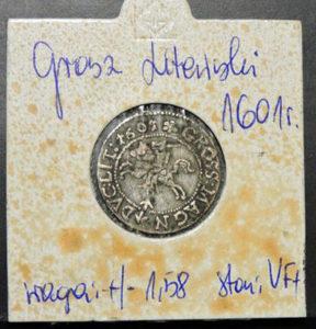 Lewy grosz litewski 1601