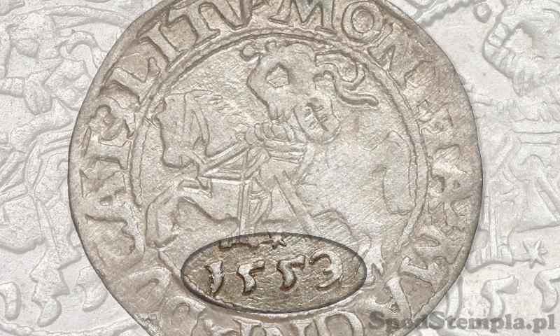 Półgrosz wileński 1559 jak 1553