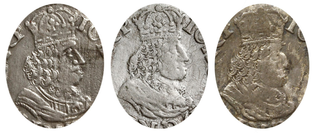 Przykładowe typy popiersia króla