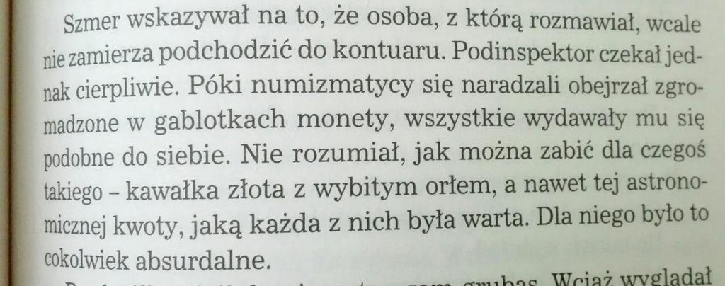 """Fragment książki K. Bondy """"Tylko martwi nie kłamią"""""""