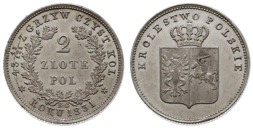 Oryginale 2 złote w rzadkiej odmianie ZLOTE (z archiwum WCN)
