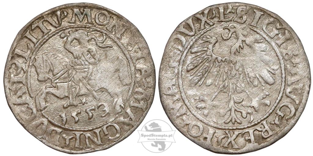 Półgrosz Zygmunta Augusta 1559 jak 1553