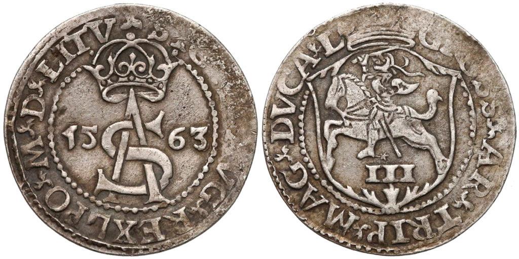 Fałszywy trojak wileński Zygmunta II