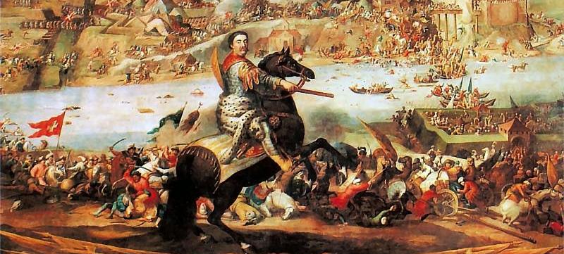 Sobieski pod Chocimiem - fragment obrazu A. Stecha