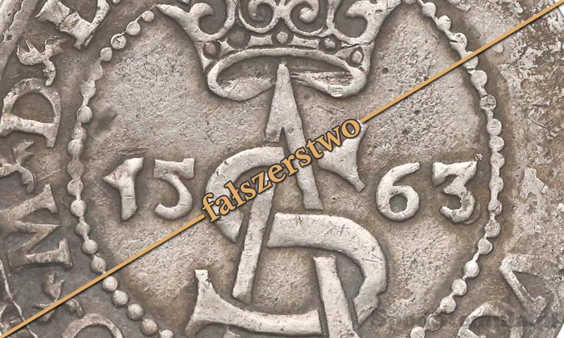 Fałszywy trojak Wilno 1563