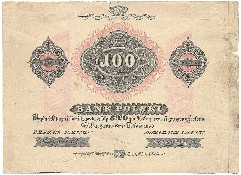 100 złotych 1830 z aukcji GNDM