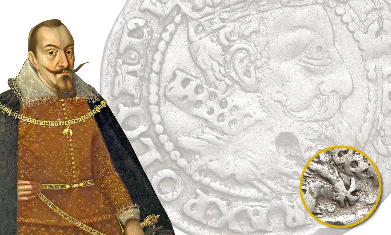 Tajemniczy krzyż na groszu krakowskim 1606
