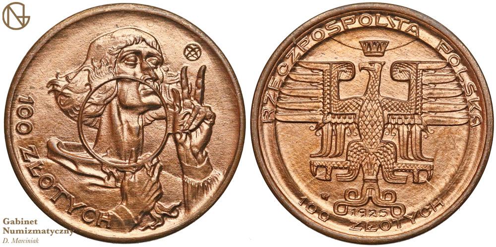 Próbne 100 złotych z Kopernikiem