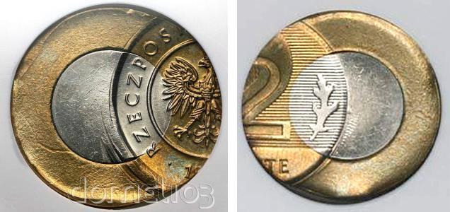 Spektakularny destrukt 2 złote z aukcji domel103 (aktualnie GNDMpl)
