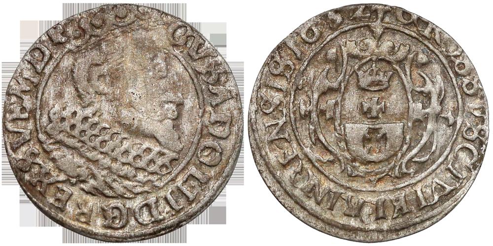 Grosz elbląski 1632 Gustawa