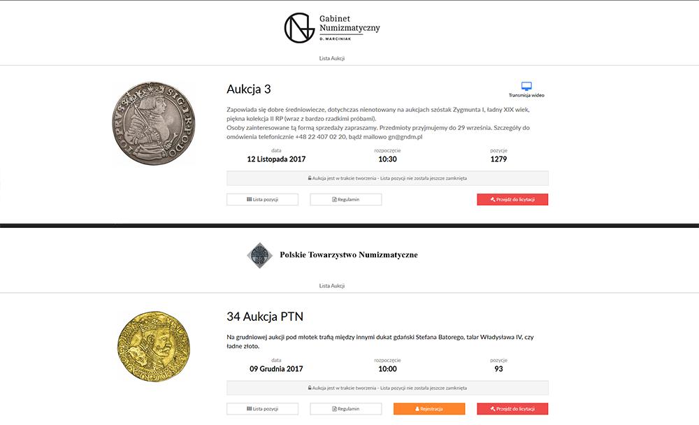 Aukcje GNDM i PTN
