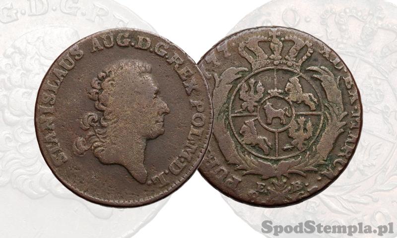Miedziana dwuzłotówka 1777, Poniatowski
