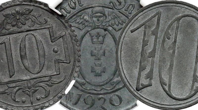 Gdańsk 10 fenigów 1920 cynk