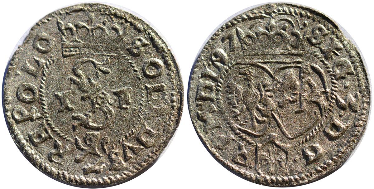 Szeląg 1597 bez znaków mincerskich