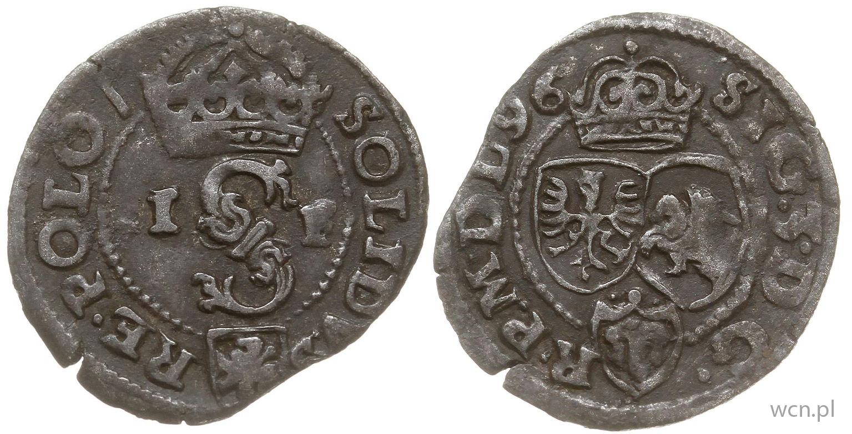 Szeląg poznański 1596 tych cech nie ma...
