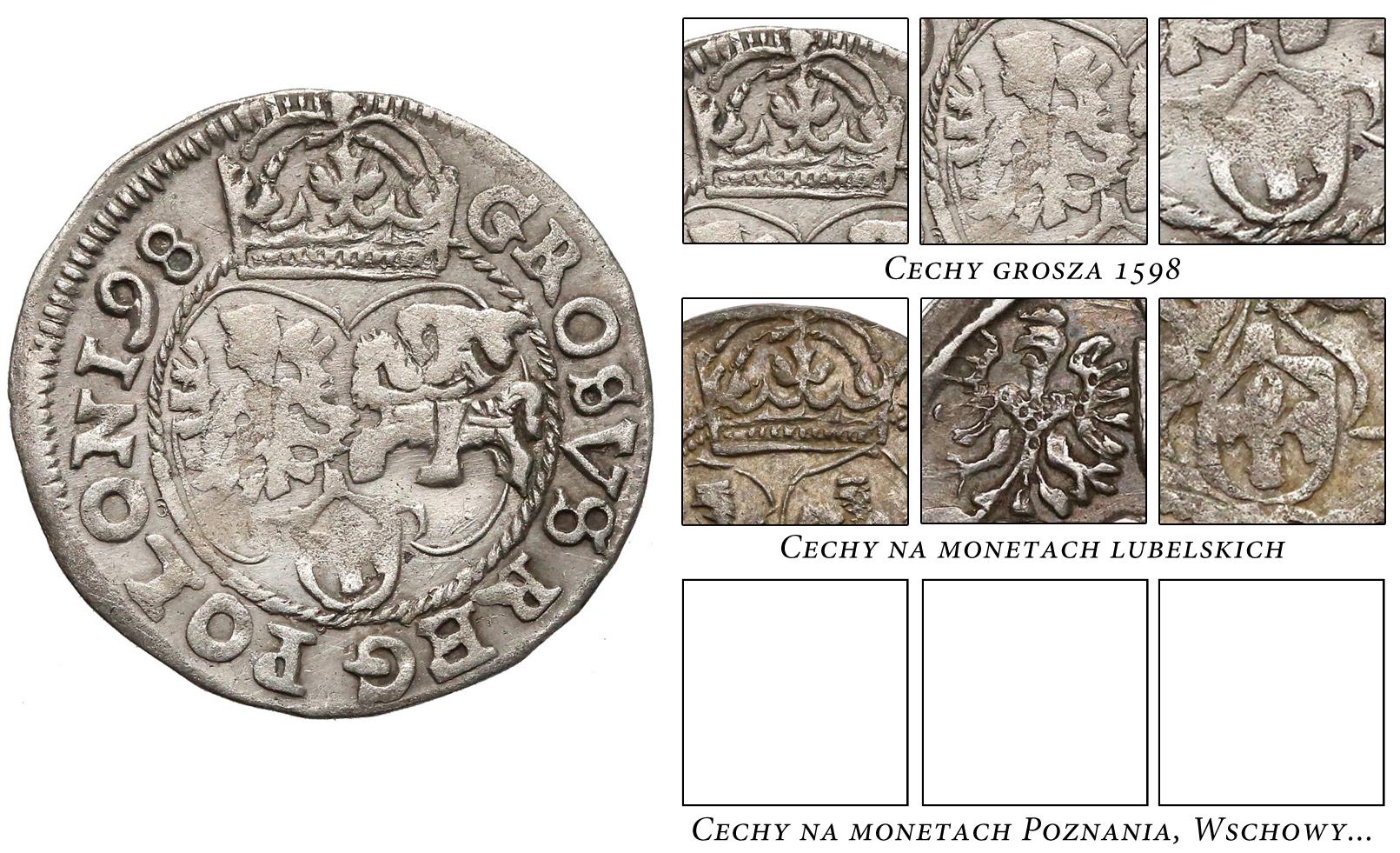 Grosz Lublin 1598, a wyroby mennic koronnych