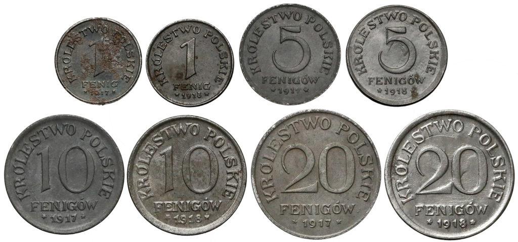Komplet monet Królestwa Polskiego