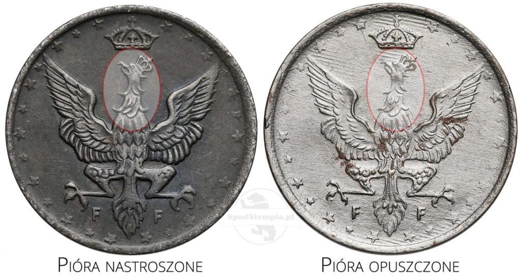 10 fenigów 1917 odmiany