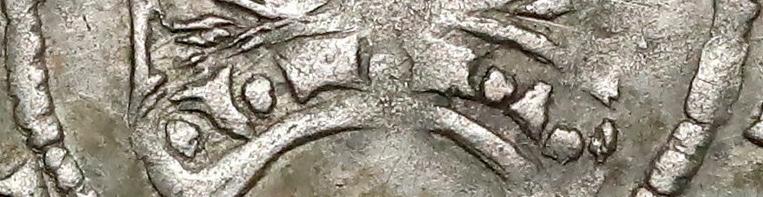 Zdobienie podstawy korony półgroszy bez daty